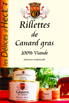 Duck fat rillettes 100% Meat