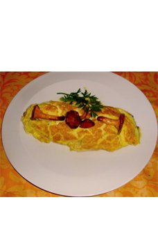 Omelette en surprise Curryon, girolles